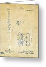 1914 Flute Patent - Vintage Greeting Card