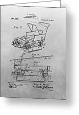 1914 Go Cart Patent Drawing Greeting Card