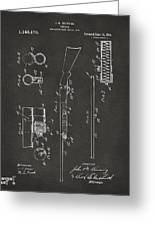 1915 Ithaca Shotgun Patent Gray Greeting Card