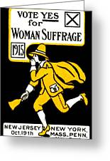 1915 Vote Yes On Woman's Suffrage Greeting Card by Historic Image