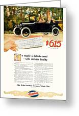 1916 - Willys Overland Roadster Automobile Advertisement - Color Greeting Card