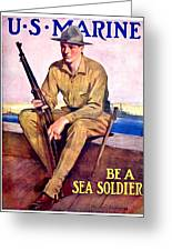 1917 - United States Marines Recruiting Poster - World War One - Color Greeting Card