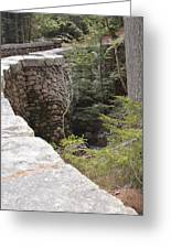 1917 Carriage Road Bridge Jordan Stream Acadia Maine Greeting Card