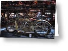 1917 Harley Davidson Greeting Card