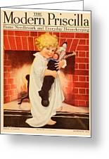 1917 - Modern Priscilla Magazine Cover - December Greeting Card