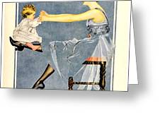 1918 - Luxite Hosiery Advertisement - Color Greeting Card