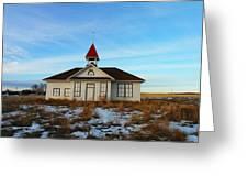 1918 Schoolhouse Macabe Montana Greeting Card