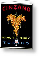 1919 - Conzano Vermouth Advertisement Poster - Color Greeting Card