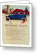 1919 - Franklin Sedan Advertisement - Color Greeting Card