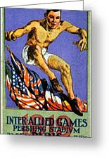 1919 Allied Games Poster Greeting Card