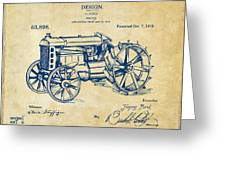 1919 Henry Ford Tractor Patent Vintage Greeting Card