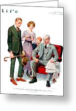 1920 - Life Magazine Cover - Engagement - J F Kernan - January 29 - Color Greeting Card