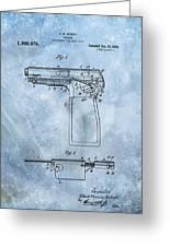 1920 Handgun Patent Greeting Card