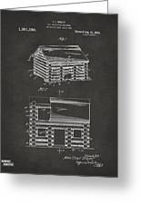 1920 Lincoln Logs Patent Artwork - Gray Greeting Card