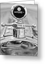 1920 Pierce-arrow Model 48 Coupe Hood Ornament - Motometer Greeting Card