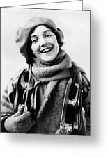 1920s 1930s Smiling Woman Dressed Greeting Card