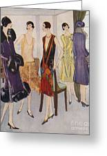 1920s Fashion  1925 1920s Uk Womens Greeting Card