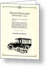 1921 - Dodge Brothers Business Car Truck Advertisement Greeting Card