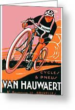 1921 - Van Hauwaert Bicycle Belgian Advertisement Poster - Color Greeting Card