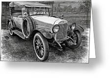 1921 Hudson-b-w Greeting Card