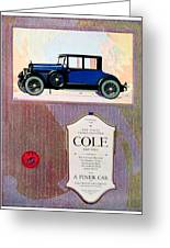 1922 - Cole 890 - Advertisement - Color Greeting Card