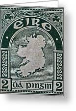 1922 Ireland Eire Stamp Greeting Card