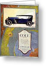 1923 - Cole 890 - Advertisement - Color Greeting Card