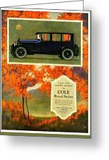 1923 - Cole Royal Sedan - Advertisement - Color Greeting Card