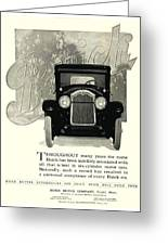 1924 - Buick Six Advertisement Greeting Card
