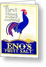 1924 - Eno's Fruit Salt Advertisement - Color Greeting Card