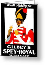 1924 - Gilbey Spey-royal Whisky Advertisement - Color Greeting Card