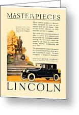 1924 - Lincoln Automobile - Color Greeting Card