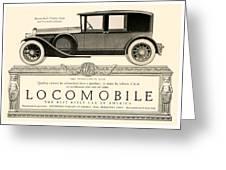1924 - Locomobile Victoria Sedan Automobile Advertisement Greeting Card