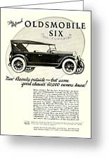 1924 - Oldsmobile Six Automobile Advertisement Greeting Card