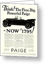 1924 - Paige Automobile Advertisement Greeting Card
