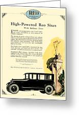 1924 - Reo Six Automobile Advertisement - Color Greeting Card
