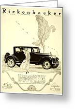 1924 - Rickenbacker Automobile Advertisement Greeting Card