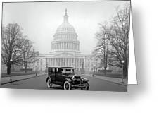 1924 Ford Lincoln At U. S. Capitol Greeting Card