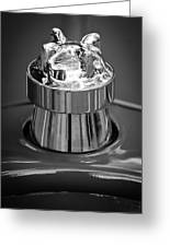 1924 Ford T Roadster Hood Ornament -331bw Greeting Card