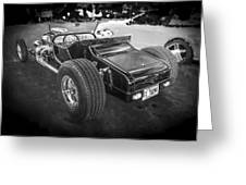 1925 Ford Model T Hot Rod Bw Greeting Card