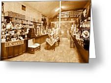 1925 Irish Shoe Store Greeting Card