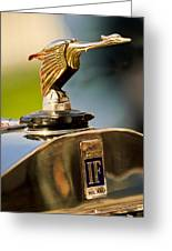 1925 Isotta Fraschini Tipo 8a S Corsica Boattail Speedster Hood Ornament Greeting Card by Jill Reger