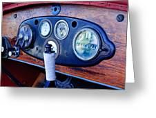 1925 Stutz Series 695h Speedway Six Torpedo Tail Speedster Dashboard Instruments Greeting Card