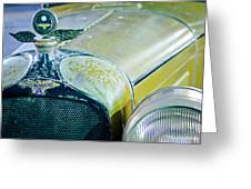 1926 Duesenberg Hood Ornament - Motometer Greeting Card