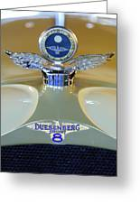 1926 Duesenberg Model A Boyce Motometer Greeting Card