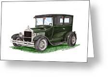 1926 Ford Tudor Sedan Street Rod Greeting Card