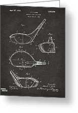 1926 Golf Club Patent Artwork - Gray Greeting Card