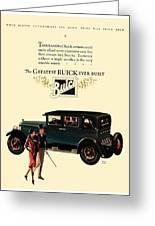 1927 - Buick Automobile - Color Greeting Card