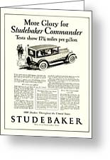 1927 - Studebaker Commander Automobile Advertisement Greeting Card