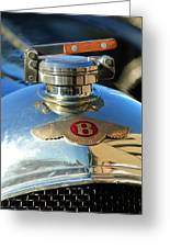 1927 Bentley Hood Ornament Greeting Card